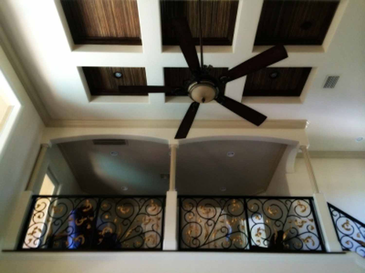 second floor with ceiling fan